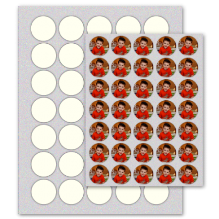"1.25"" Circle Edible Icing Sheets 24/pkg"