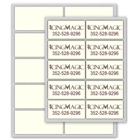 Business Card Edible Icing Sheets 24/pkg