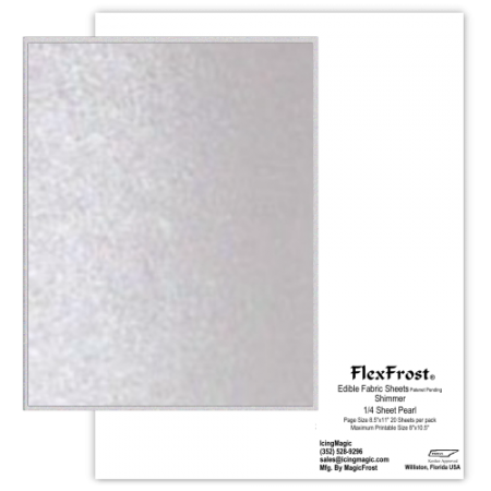 FlexFrost® Edible Fabric Sheets - Pearl Shimmer