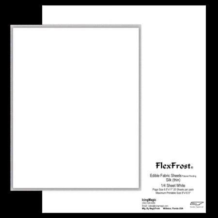 FlexFrost® Silk Edible Fabric Sheets