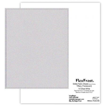 FlexFrost® Tiffany Translucent Edible Fabric Sheets