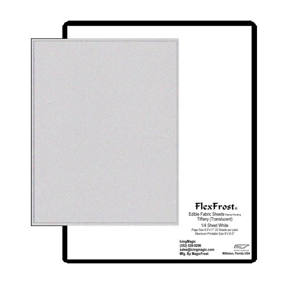 FlexFrost® Tiffany Translucent Edible Fabric Sheets