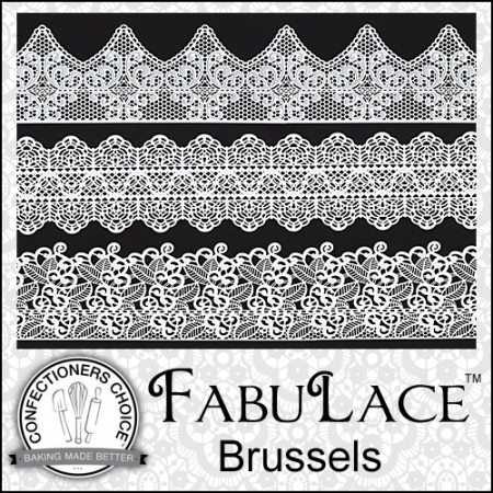 FabuLace™ Brussels Cake Lace Silicone Mat