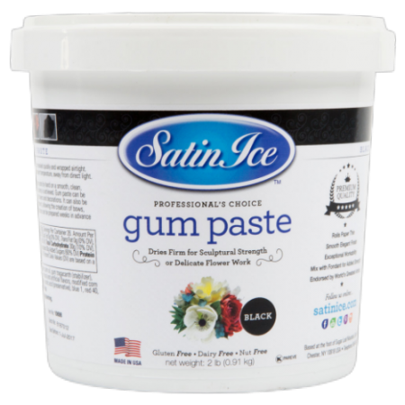 Satin Ice Black Gumpaste - 2lbs