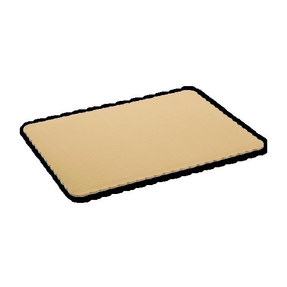 1/2 Sheet Foil coated Pads, scalloped edge 25/cs