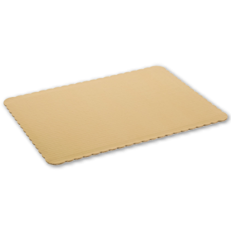 1/4 Sheet Scalloped Edge, Foil Coated Cake Pads 100/cs