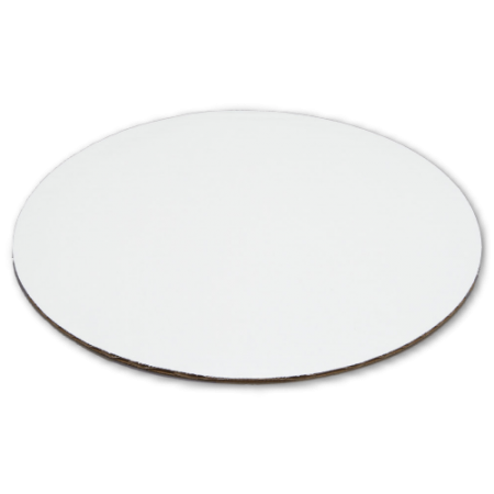 "8"" Round Single Wall, White Standard Cake Pad 500/cs"