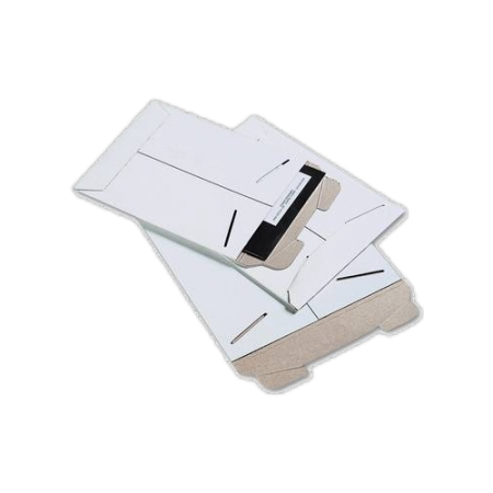 White 13x18 Stay Flat Cardboard envelope 10pk