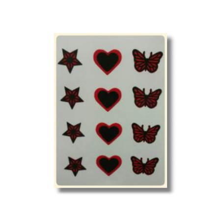 Ultimate Edible Designs - Stars, Hearts and Butterflies-Red and Black
