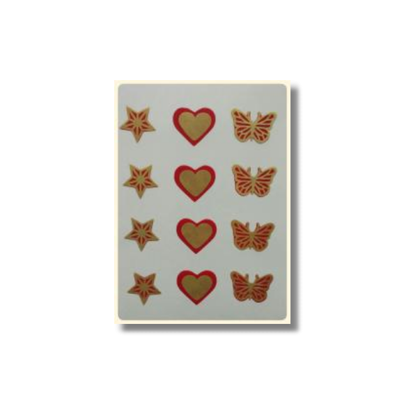 Ultimate Edible Designs - Stars, Hearts and Butterflies-Red and Gold