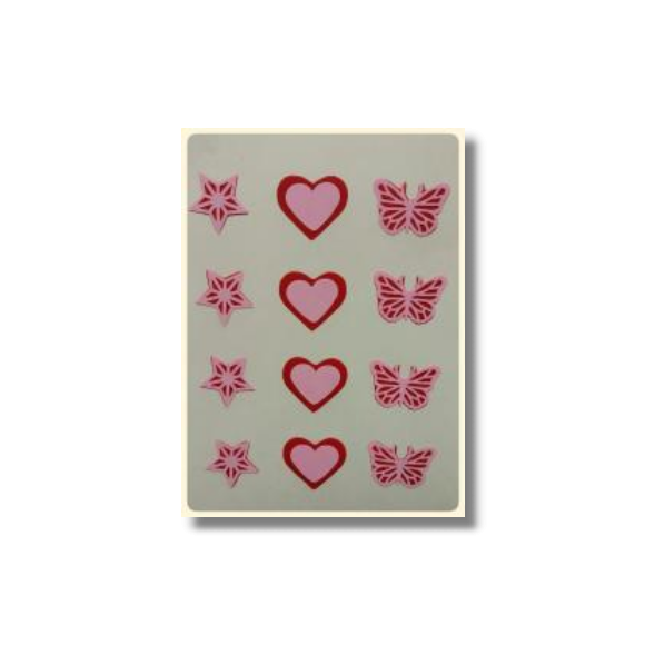 Ultimate Edible Designs - Stars, Hearts and Butterflies-Red and Pink