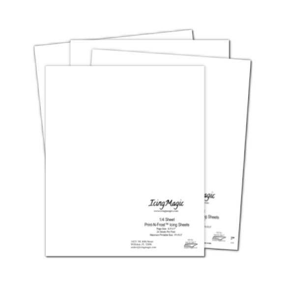 8.5x11 Edible Icing Sheets 4 pack Special
