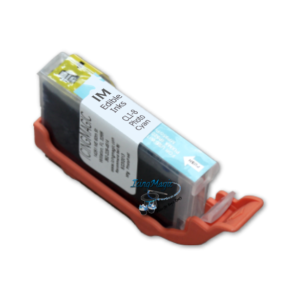 CLI-8 Photo Cyan Edible Ink Color Cartridge
