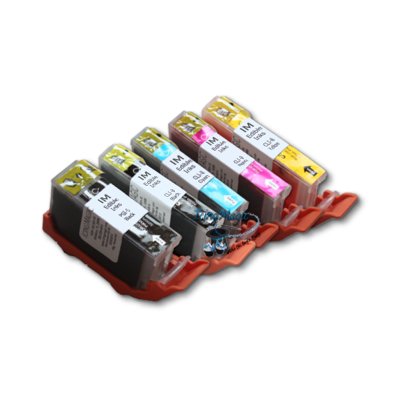 CLI5 Edible Ink Color Cartridge Set with chips