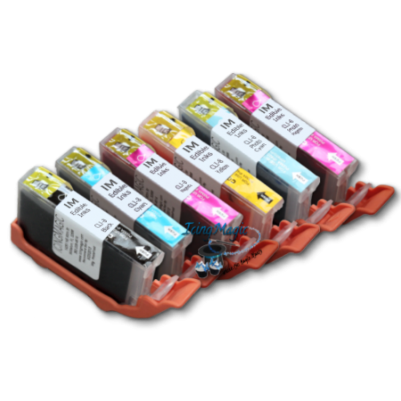 CLI6 Edible Ink Color Cartridge Set with chips