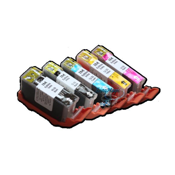 CLI 220/221 Edible Ink Color Cartridge Set