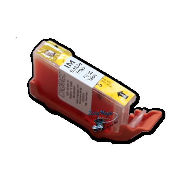 CLI-321 Yellow Edible Ink Color Cartridge