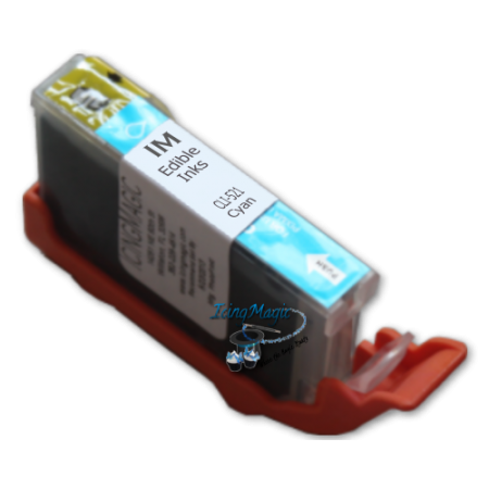 CLI-521 Cyan Edible Ink Color Cartridge