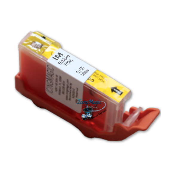 CLI-521 Yellow Edible Ink Color Cartridge