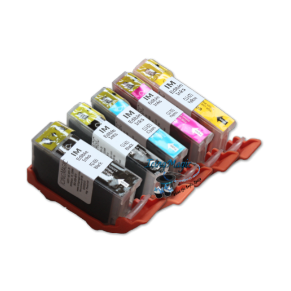 CLI 820/821 Edible Ink Color Cartridge Set
