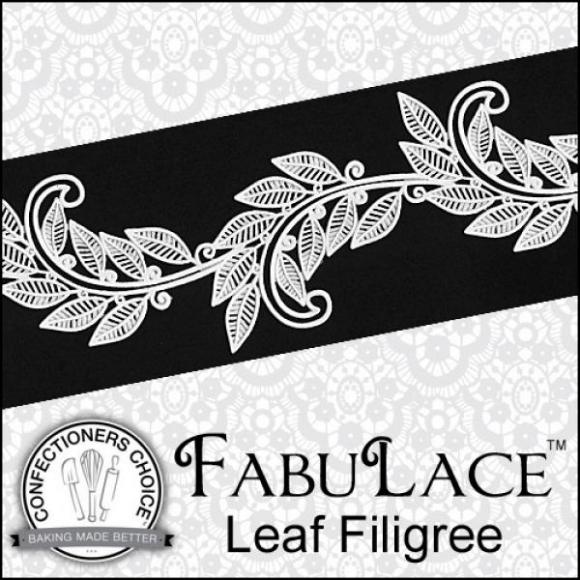 FabuLace™ Leaf Filigree Cake Lace Silicone Mat