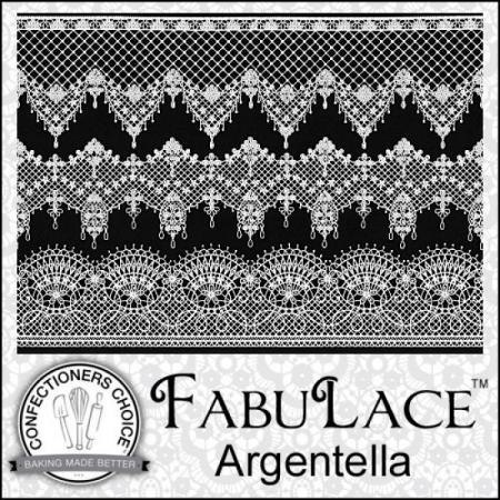 FabuLace™ Argentella Cake Lace Silicone Mat